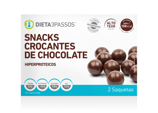 SNACKS CROCANTES DE CHOCOLATE 2X35gr.
