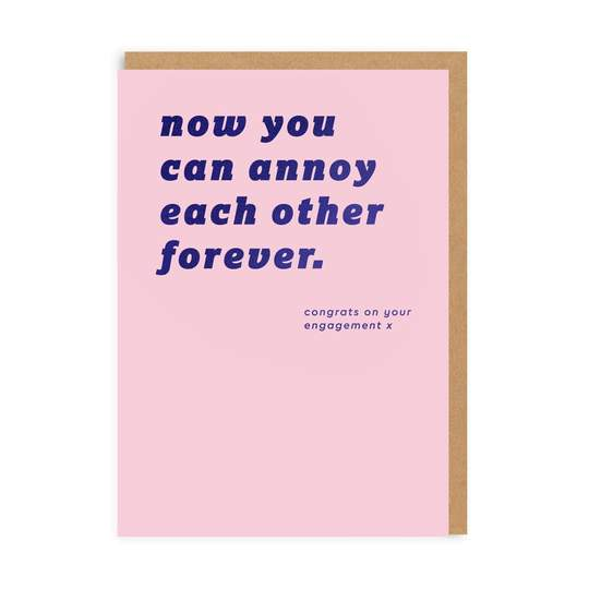 GREETING CARD ANNOY EACH OTHER FOREVER OHH DEER